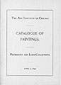 Catalogue of Paintings. Permanent and Loan Collections