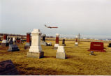 St. Johannes Cemetery: AA DC-9 landing at ORD