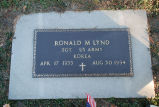 Gravestone of Ronald M. Lynd
