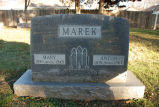 Gravestone of Mary & Anton Marek