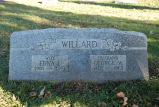 Gravestone of Edna L. & George W. Willard