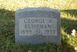 Gravestone of George A. Buhrman