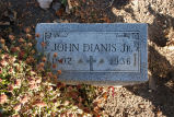 Gravestone of John Dianis Jr.