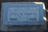 Gravestone of Paul W. Dianis
