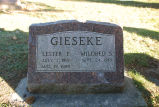 Gravestone of Lester F. & Mildred S. Gieseke