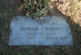 Gravestone of Patrick J. Neeley