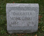 Gravestone of Minnie C. Hoeft.