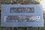 Gravestone of Sarah M. and David Weaver