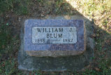 Gravestone of William J. Blum