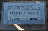 Gravestone of Beverly L. Dianis