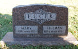 Gravestone of Mary & Thomas Hucek