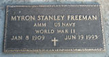 Plaque in memory of M. Stanley Freeman, 1994.