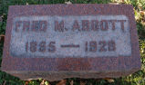 Gravestone of Fred M. Abbott
