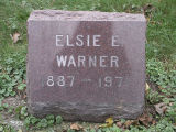 Gravestone of Elsie E. Warner