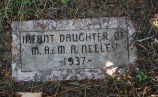 Gravestone of Infant Daugher of M. A. & M. A. Neeley