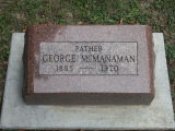Gravestone of George McManaman