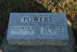 Gravestone of Kathryn S. & Harry F. Powers