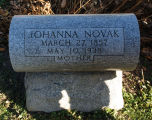Gravestone of Johanna Novak