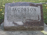 Gravestone of Arnold E. & Lucille M. Jacobson