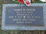 Gravestone of James W. Frisch