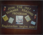 1987 Cary Public Library Summer Reading Program Display