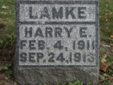 Gravestone of Harry E. Lamke