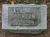 Gravestone of Ada M. Kerns
