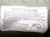 Field Jacket tag
