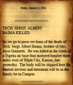 Tech. Sergt. Albert Baima Killed Article