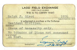Ladd Field Exchange Card