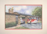 Fire department station no. 2, watercolor, circa 1996