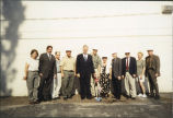 Library groundbreaking ceremony, 2000
