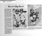 Newspaper article and photographs of the Chicago Ridge Park District dog show, 1976