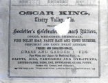 Oscar King advertisement, 1886