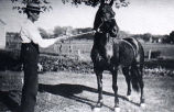 George Kezar and horse