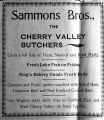 Sammons Brothers Butchers advertisement