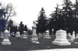 Cemetery in Cherry Valley, Illinois, 1976.
