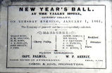 New Year's Ball invitation, 1861