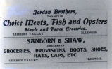 Jordan Brothers advertisement and Sanborn & Shaw advertisement, 1901.