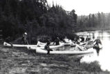 Boy Scouts canoeing