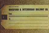 Rockford and Interurban Railway Co. baggage ticket