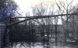 Bridge after being dynamited