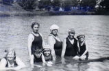 Swimmers in the Kishwaukee River