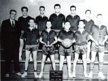 Basketball team with Coach Mr. Sundstedt