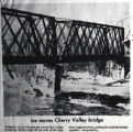Railroad  bridge damaged