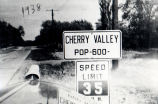 Cherry Valley, Illinois population sign in 1938