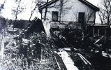 Tornado damage at Manson house