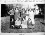 Group of friends, Cherry Valley, Illinois, 1921