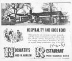 Advertisement for Horwath's Restaurant