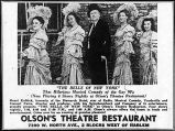 Advertisement for Olson's Theatre Restaurant